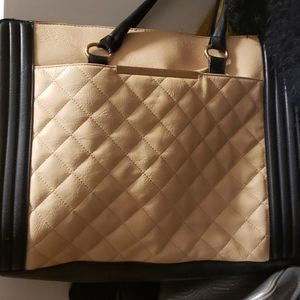 Aldo Large Leather Quilted purse